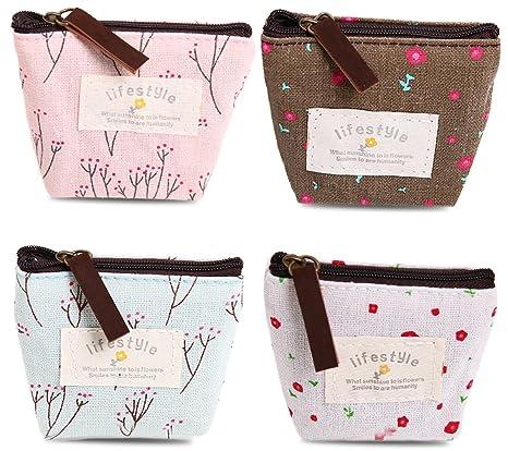Amazon.com: Bonaweite, bolsa de lona para cambio y billetera ...