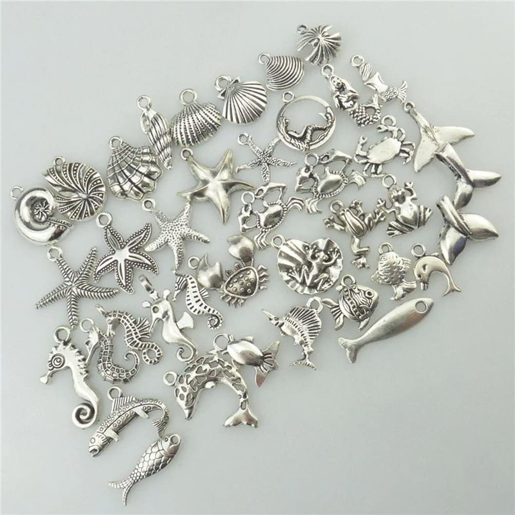 ultnice 40/PZ FAI DA TE BRICOLAGE Charms Ciondolo per collana bracciale Marine animale