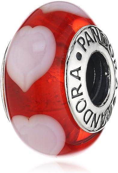 perle pandora coeur rouge