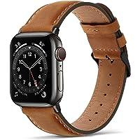 Tasikar Band Compatibel met Apple Watch Strap Premium Lederen Vervanging Armband Band Compatibel met Apple Watch SE…