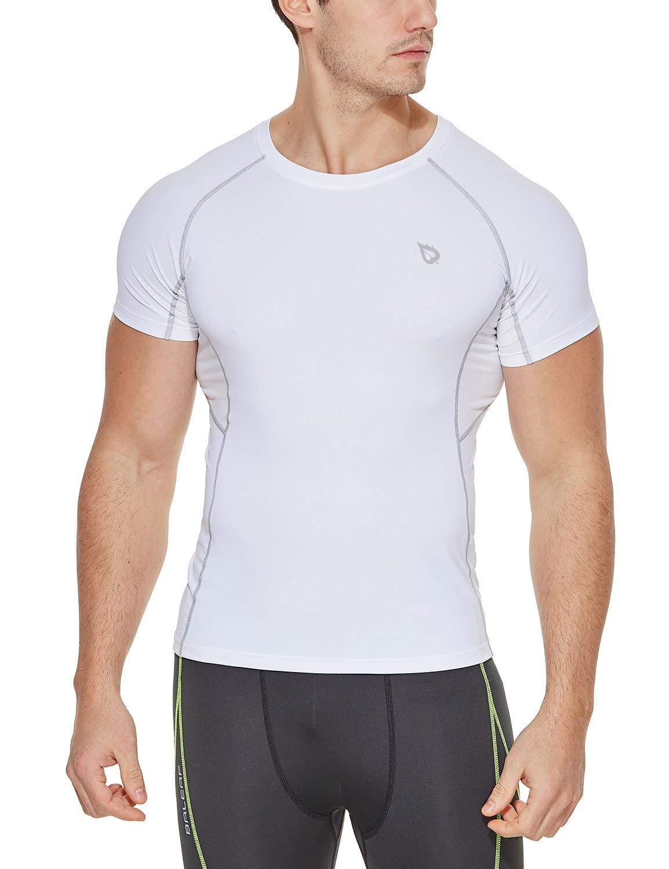 Baleaf Men s Short Sleeve Running Fitness Workout Compression Base Layer  Shirt product image 610bc0e73