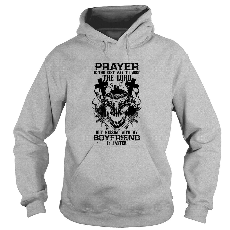 Amazon com: I Love My Boyfriend Hoodies, Prayer is The Best