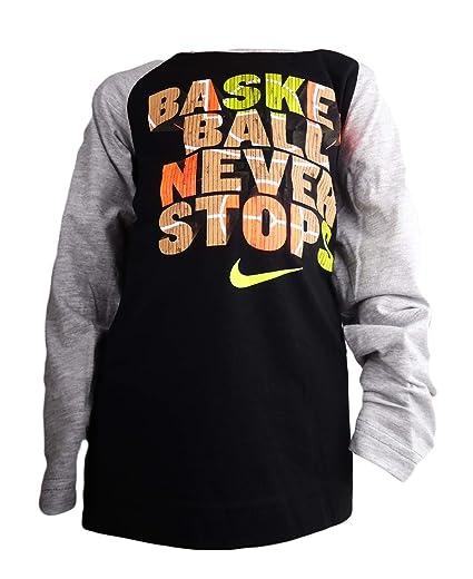 6f0697a182f6 Amazon Com Nike Tees Boys Long Sleeve Basketball Never Stops 7