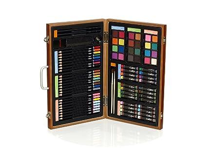 Gallery Studio 82 Piece Deluxe Art Set in Wooden Case