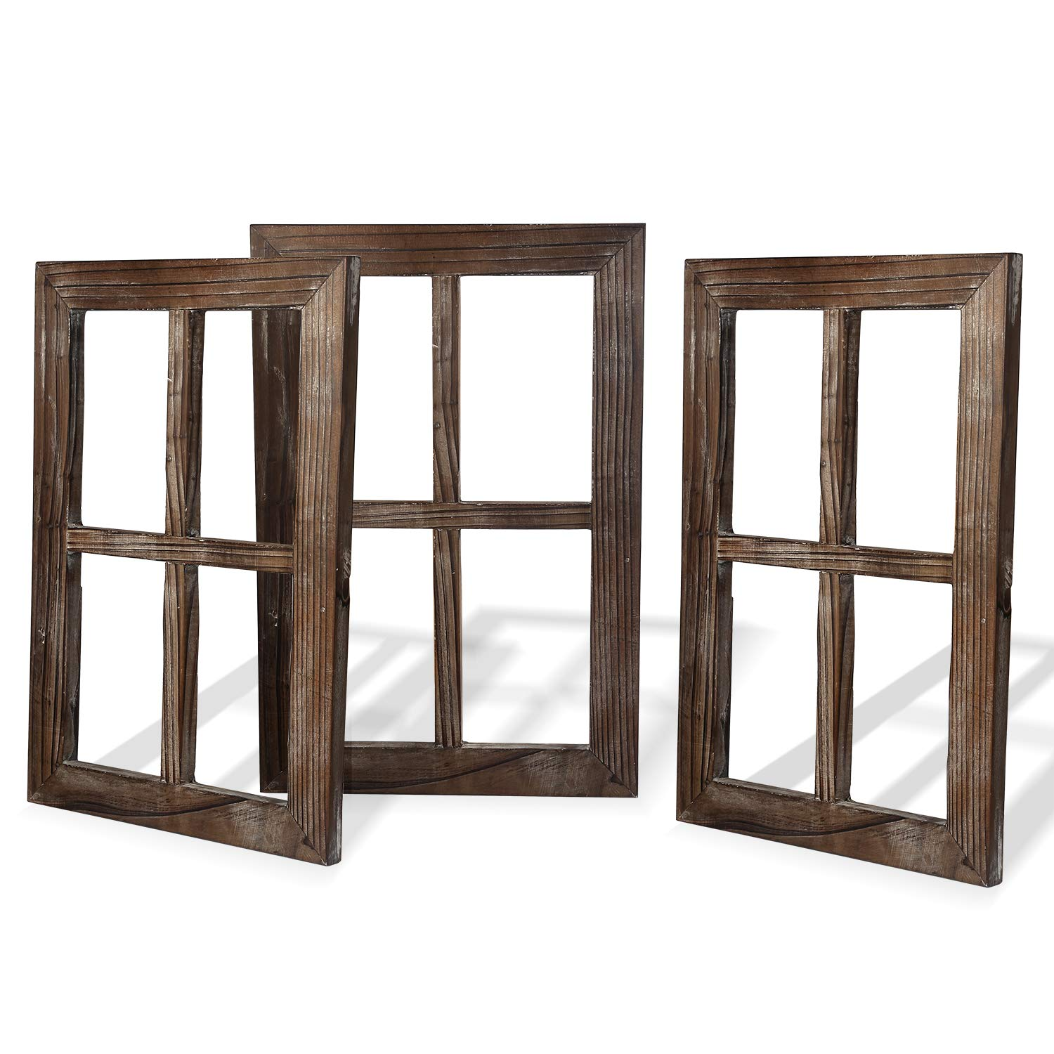 Cade Rustic Wall Decor-Home Decor Window Barnwood Frames -Room Decor for Home or Outdoor, Not for Pictures (3, 11X15.8 inch)