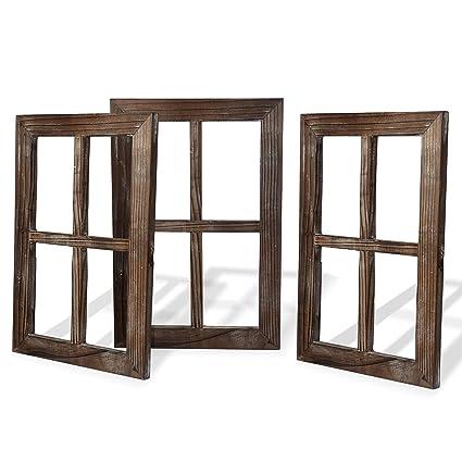Amazon.com: Cade Rustic Wall Decor-Home Decor Window Barnwood Frames ...