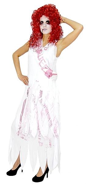 Foxxeo Zombie Prom Queen Disfraz para Damas Vestido de Halloween ...