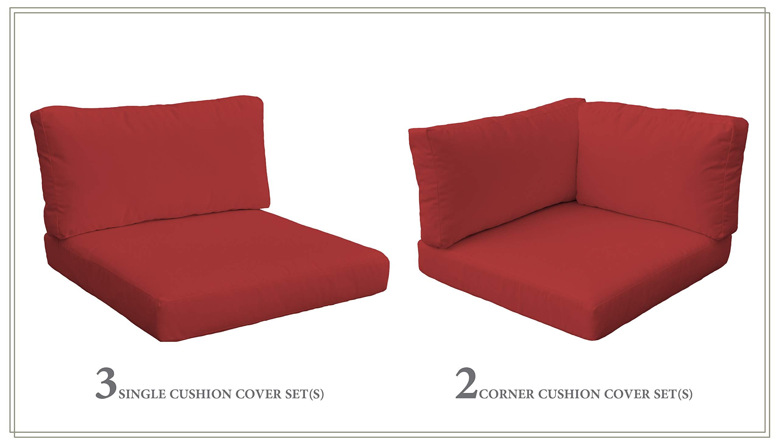 TK Classics Cushion Set for BELLE-06b in Terracotta