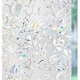 rabbitgoo 3D Pegatina Ventanas Vinilos Decorativos Cristales Protector Privacidad Anti 96% UV Efecto de Iris Electricida…