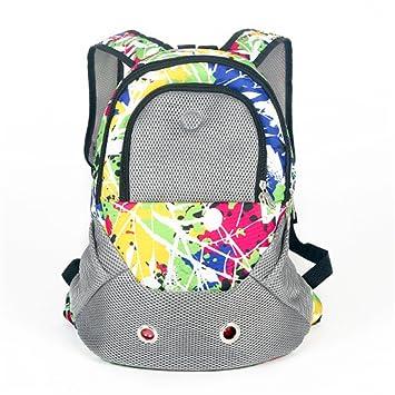 b9c7a5b17eb Pet Carrier Shoulders Back Front Pack Dog Cat Travel Bag Mesh Backpack Head  out Design Travel Adjustable Shoulder Strap (Green Camouflage):  Amazon.co.uk: ...