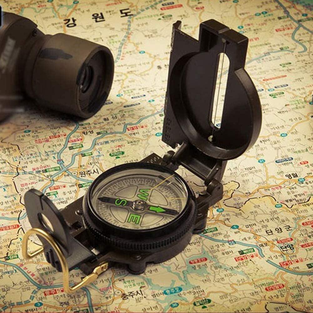 Objectif Multifonctions de Vis/ée Boussole Professionnelle Imperm/éable Multifonctionnelle Portable Boussole pour Camping NALCY 2PCS Boussole Hiking