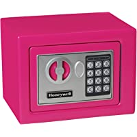 Honeywell Safes & Door Locks 5005P HONEYWELL-5005P Steel Security Safe with Digital Lock, 0.17-Cubic Feet, Pink, 0.17…