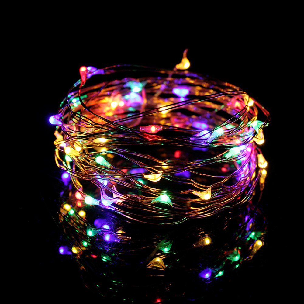 Tuscom Rice Wire Copper Fairy USB Connector String Lights,5M 50 LED Waterproof for Garden Christmas House Part Wedding Festival Decorative (5 Style ) (Multicolor)