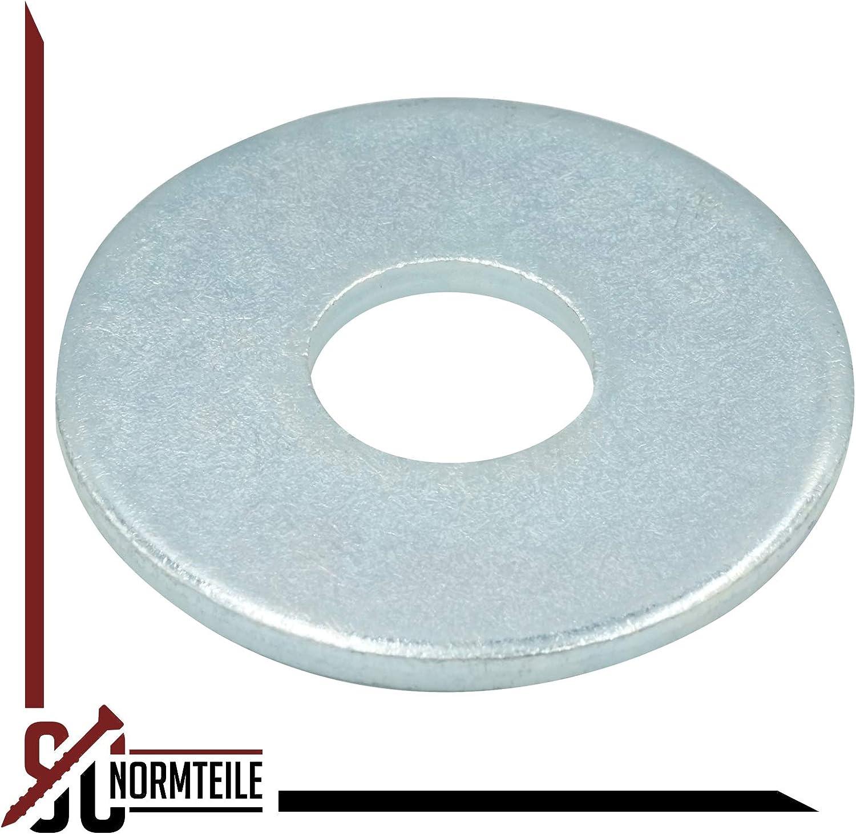 galvanisch verzinkt SC-Normteile Gro/ße Unterlegscheiben - Beilagscheiben M2,5 - DIN 9021 Form A 25 St/ück SC9021