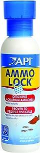 API AMMO-LOCK Freshwater and Saltwater Aquarium Ammonia Detoxifier 4-Ounce Bottle, AMMO LOCK, 4 OZ