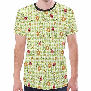 6d2bc1266 Amazon.com: MtURQh Men's Blouse Short Sleeve Floral Print T-Shirt ...