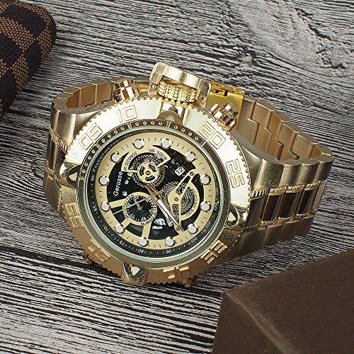 Gerosse-Mens-Luxury-Big-Face-Golden-Stainless-Steel-Calendar-Mens-Watch-Over-Size-Metal-Band-Gold-Watch-Three-sub-dials-Quartz-Wrist-Watch-Hip-Hop-Watch