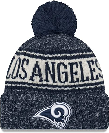 Los Angeles Rams New Era NFL Sideline 2018 Bobble Mütze