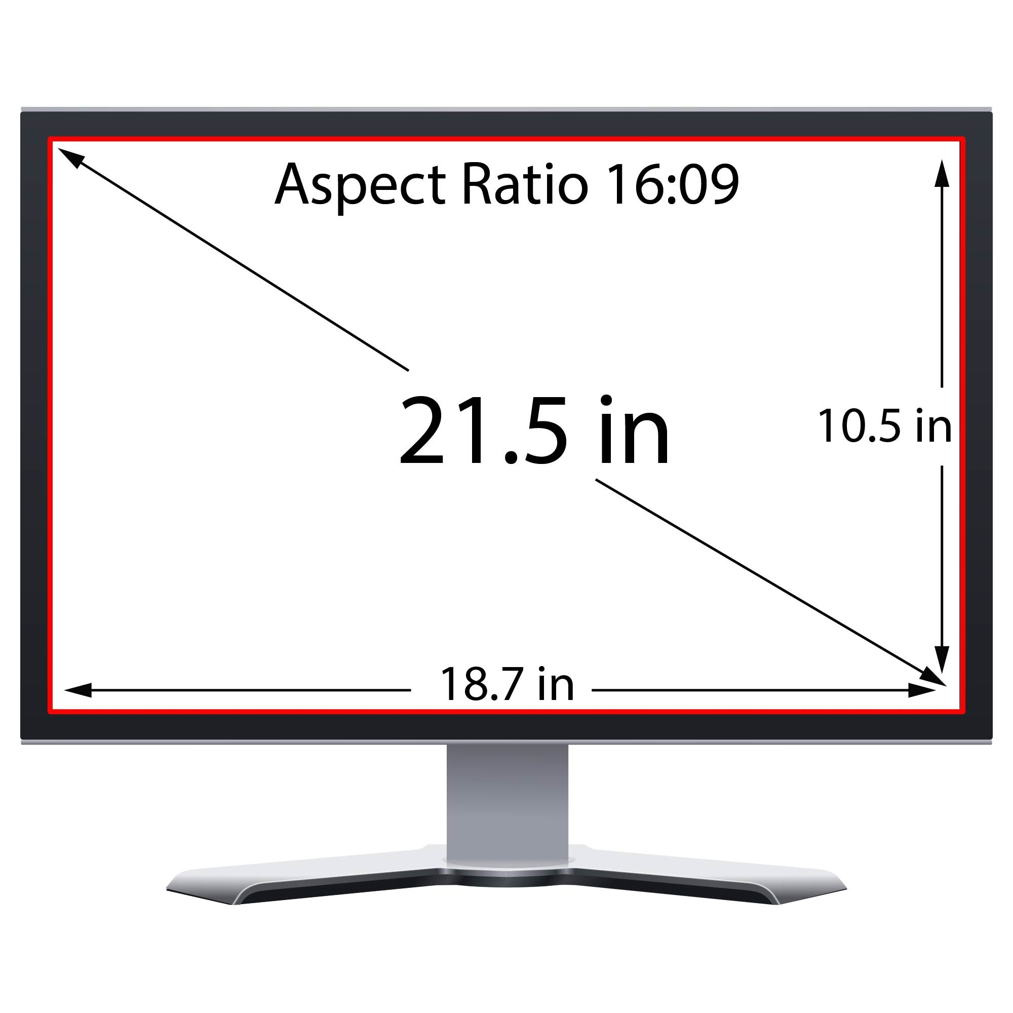 Privacy Screen Filter and Anti Glare for 21.5 Inches Desktop Computer Widescreen Monitor with Aspect Ratio 16:09 Please check Dimension Carefully