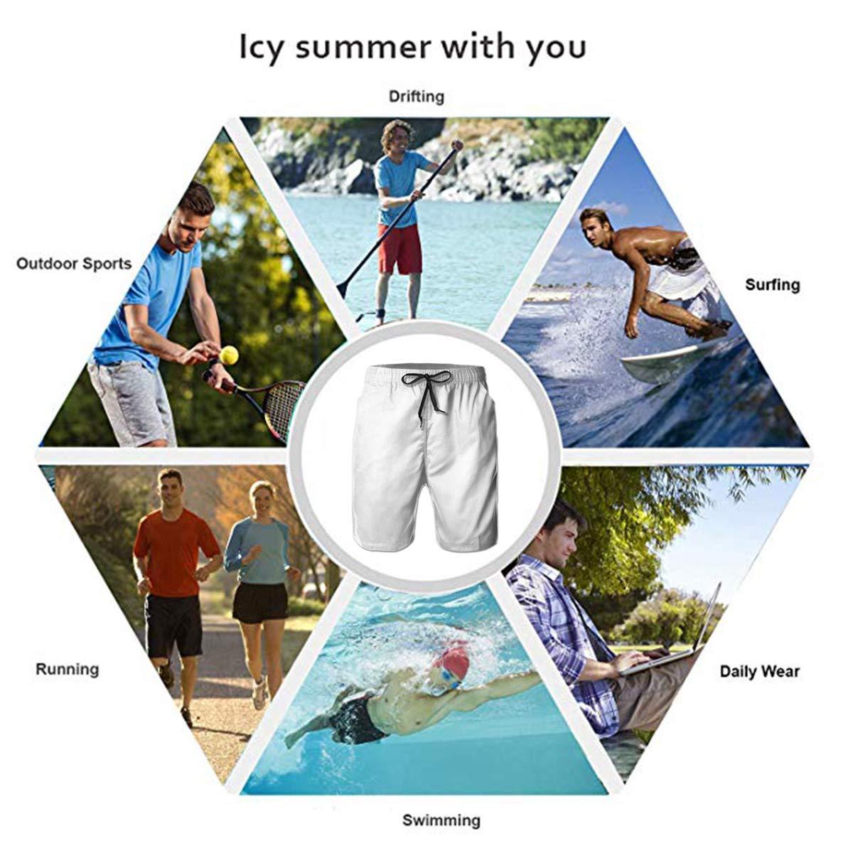 USA Flag Star YongColer Men Summer Beach Board Shorts Swim Trunks with Pockets