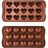 2 Pack Heart Silicone Chocolate Candy Mould