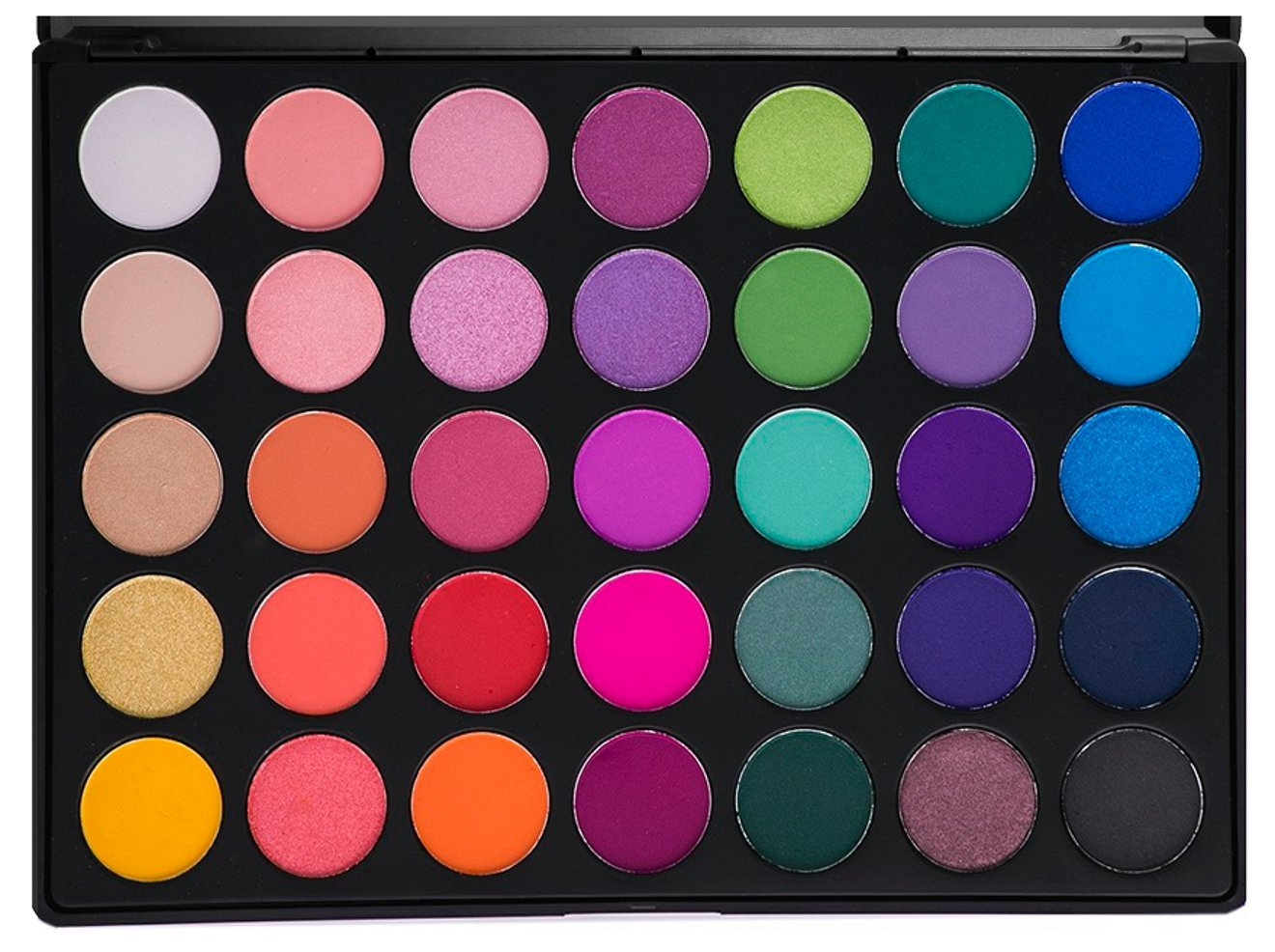 Morphe Pro 35 Color Eyeshadow Makeup Palette - GLAM (High Pigmented) 35B Morphe Brushes