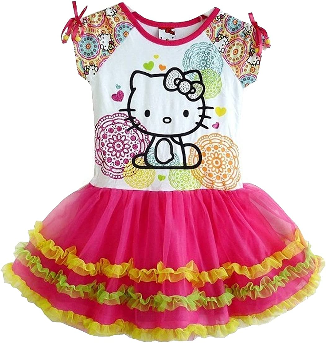 SOPO Hello Kitty Toddler Dress Baby Girls Tutu Dress Pink