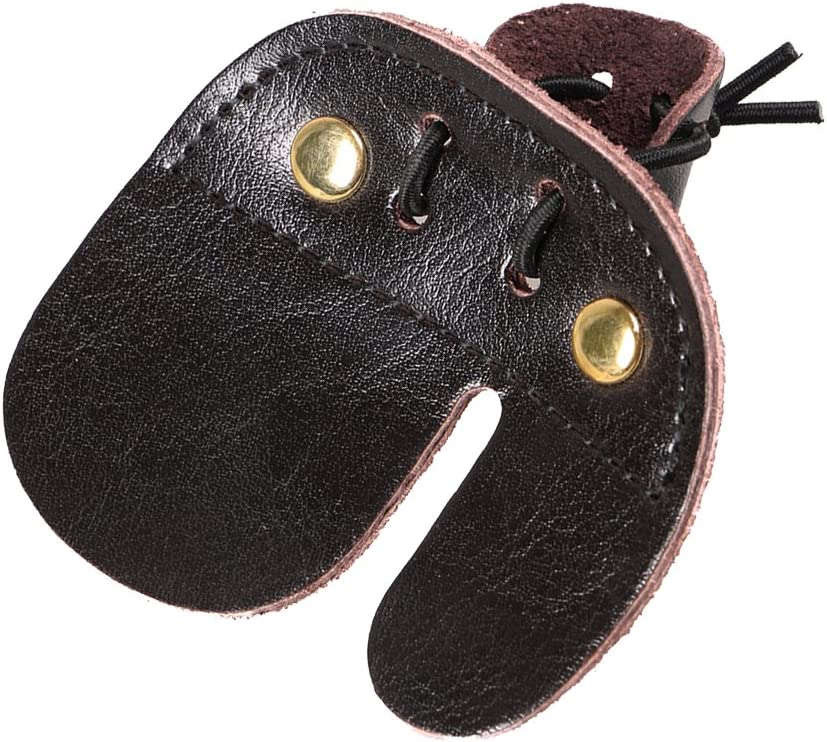 Archery Finger Tabs Guard PU Leather Adjustable Right Hand