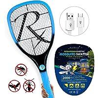 AckMond Samoa Fly Swat Wasp Bug Mosquito Swatter Zapper USB Rechargable LED Detachable Light Raquette Anti moustiques électrique Insectes Moustiques avec Nouvelle Poignée