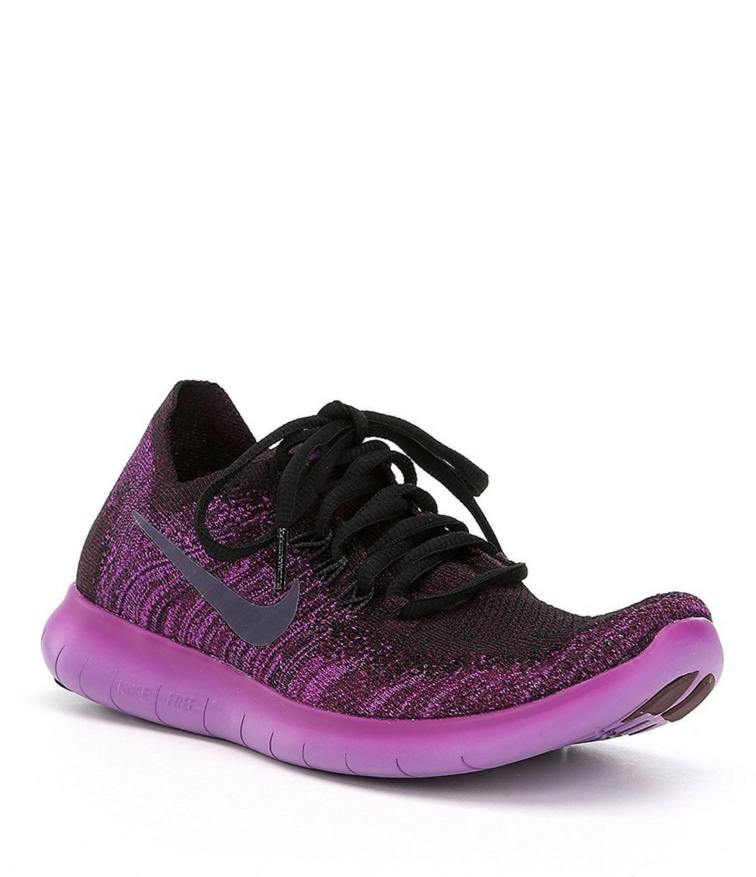 3a3c8f1612d7 Galleon - NIKE Women s Free Rn Flyknit 2017 Black Dark Raisin-Deadly Pink  Running Shoes (8.5)