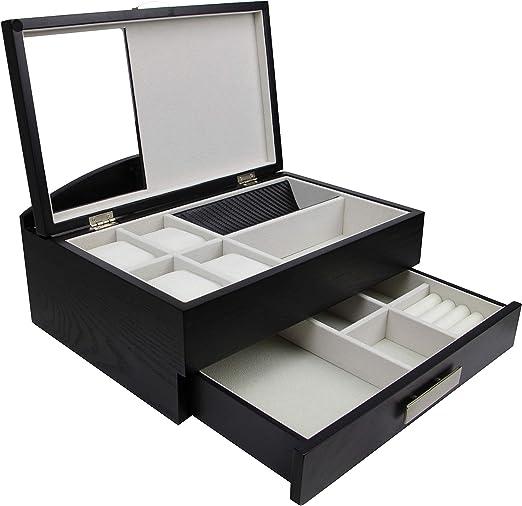 Decorebay Sawyer Valet Station Watch Case And Jewelry Box Organizer Amazon Ca Home Kitchen