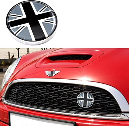 Black//White Checker Pattern Style Wheel Center Cap Covers Compatible With MINI Coopers R50 R51 R52 R53 R55 R56 R57 R58 R59 R60 R61 F55 F56 etc 4 iJDMTOY