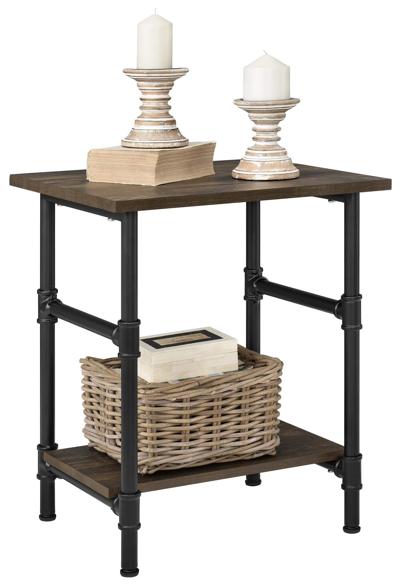Ameriwood Home 5371846COM Carter End Table, Rustic