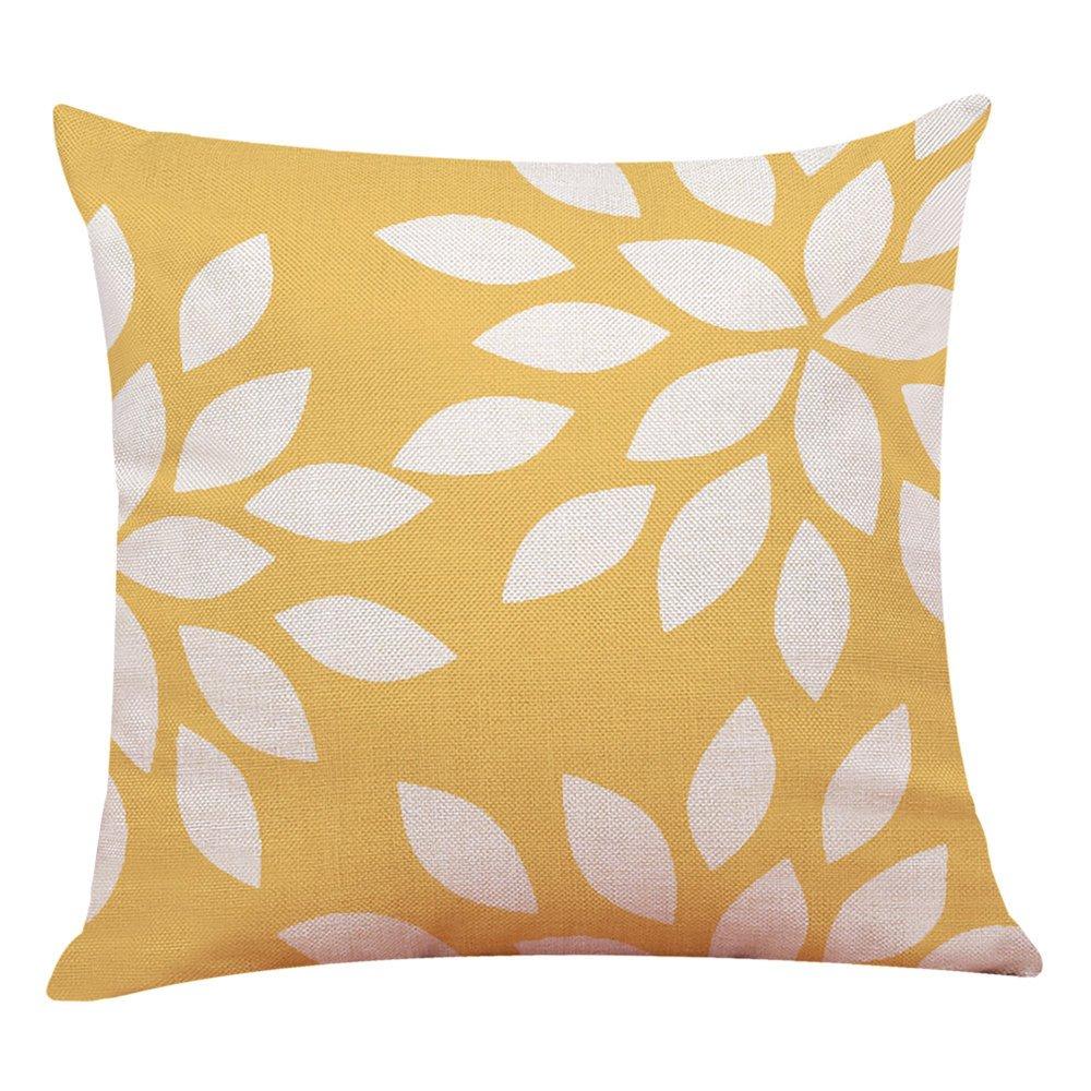 Chenway Printed Geometric Throw Pillow Case, Pillowslip Zipper Cushion Festive Decoration CaseCover for Sofa Living Room Home Decor (E)