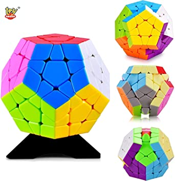Toy Arena Ultra Smooth Professional Handy Megaminx Magic Puzzle Cube Brain Teaser Cube with White-Base