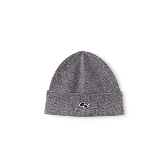 e2eee609fb1 LACOSTE - Knitted cap - RB9868  Amazon.co.uk  Clothing