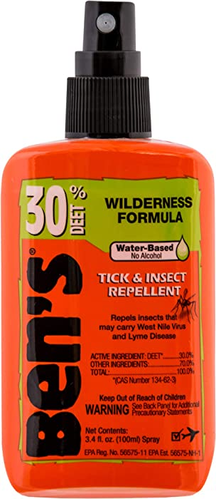 Ben's 30% DEET Mosquito, Tick and Insect Repellent, 3.4 Ounce Pump