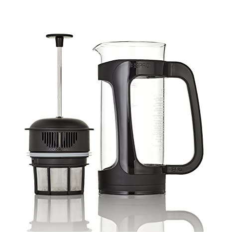 Espro 1432C-BK-FFP Coffee Press P3-32 oz, Glass and Black Plastic, FFP, 32-oz,