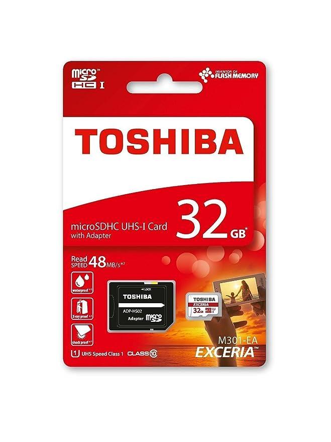 Toshiba M301-EA - Tarjeta de memoria micro SDHC de 32 GB, UHS-I