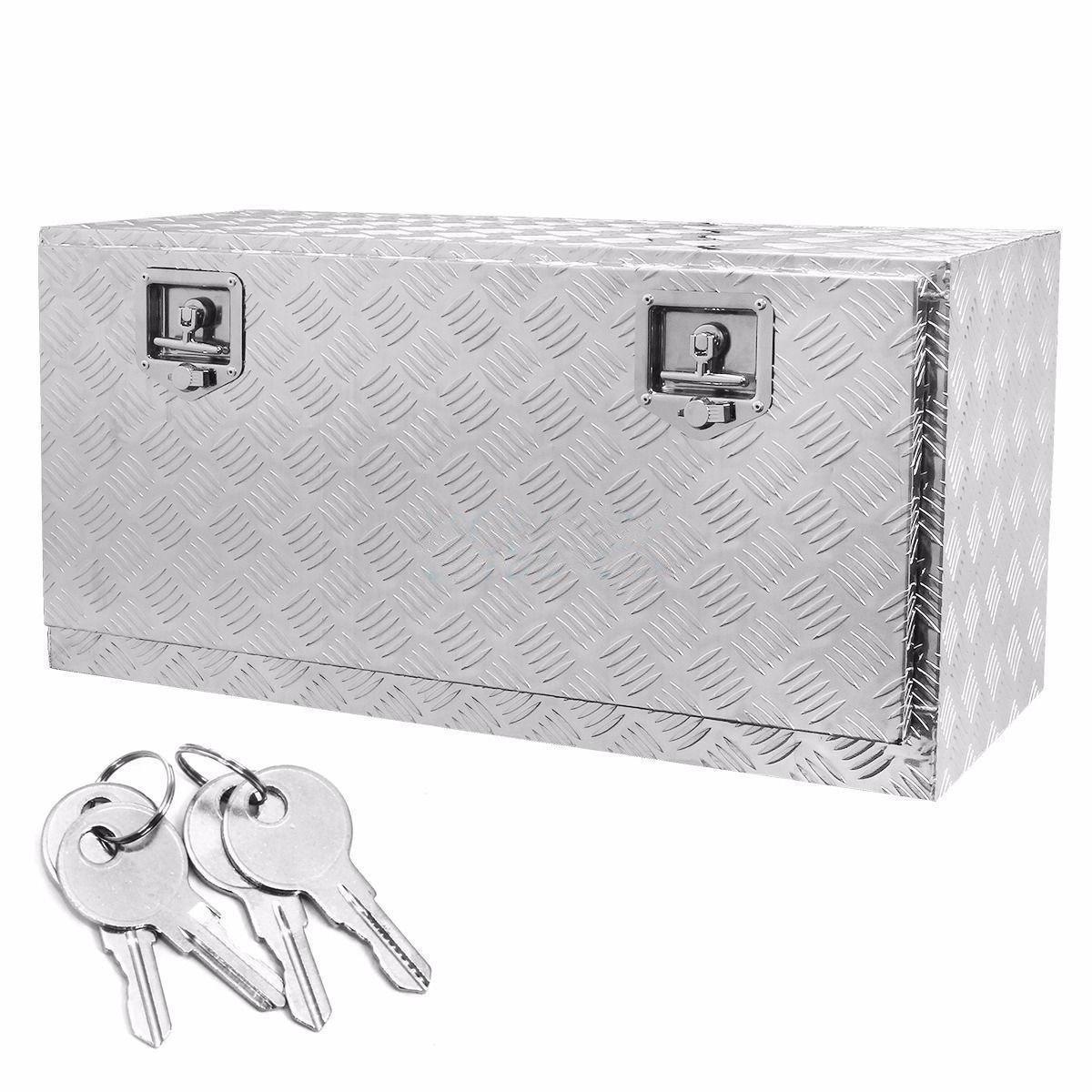 36''x 18''x 15.75'' Aluminum Tool Box,fTruck Pickup RV ATV Trailer Storage ToolBox w/Lock