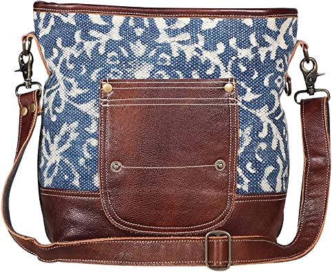 Amazon Com Myra Bags Blue Bliss Canvas Leather Rug Shoulder Bag S 1950 Shoes Louis tote, cap vert crossbody, saint sulpice card case, and more. myra bags blue bliss canvas leather rug shoulder bag s 1950