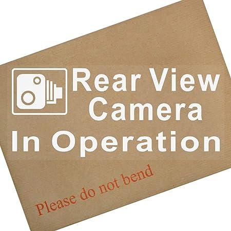 Windschutzscheiben Aufkleber Mit Aufschrift Rear View Camera In