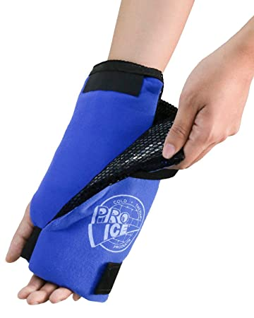 5476fa7c42168e Image Unavailable. Image not available for. Color: Wrist Cold Therapy Ice  Wrap by Pro Ice