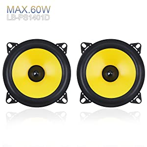 ePathChina 4 inch 60W 2-Way Full Range Frequency Car Audio Stereo Speaker Automobile Loudspeaker 2 pcs