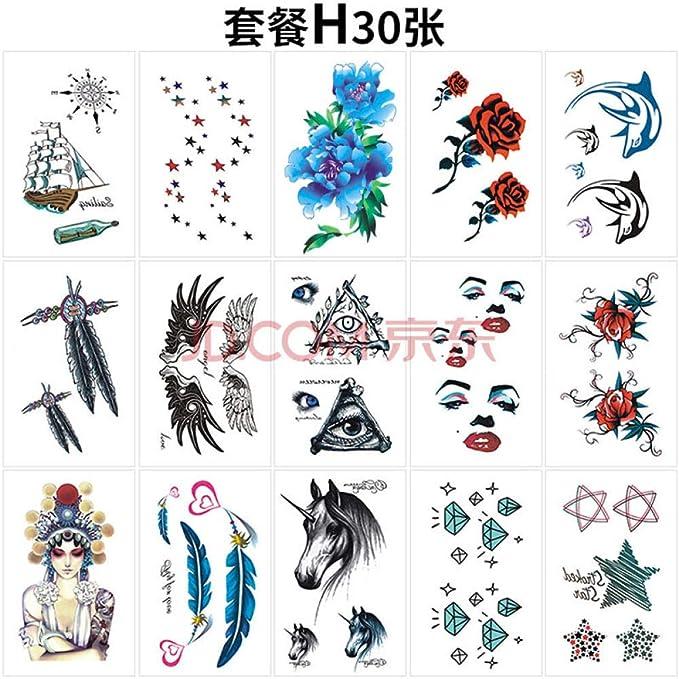 Tatuaje Su Xiaomu, Pintó Detrás De Sus Pegatinas De Tatuajes En La ...