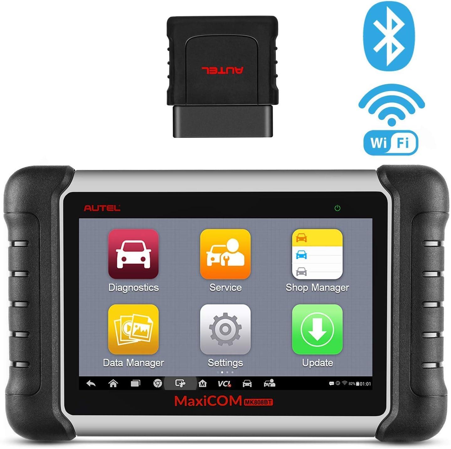 Autel MaxiCOM MK808BT OBD2 Bluetooth Herramienta de diagnóstico con Todas Las de Sistema y 21 Servicios Incluyendo DPF, EPB, BMS, SAS, TPMS e IMMO, Versión Actualizada de MK808