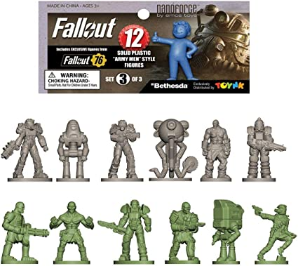 Bagged Set 1 Fallout Nanoforce Series 1 Army Builder Figure Collection