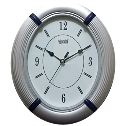 wall clock for office. Ajanta Wall Clock For Home And Office (Oval,White)