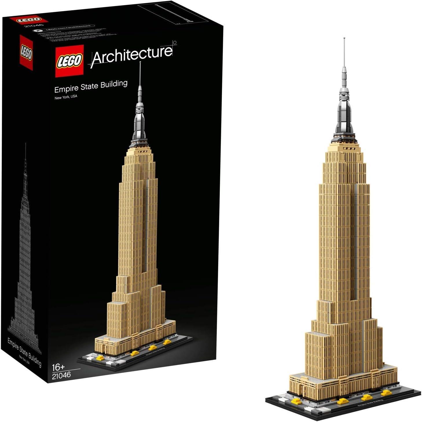 LEGO Architecture - Empire State Building Nuevo Juego de Construcción, Maqueta de Juguete de la Icónica Torre de New York (21046): Amazon.es: Juguetes y juegos