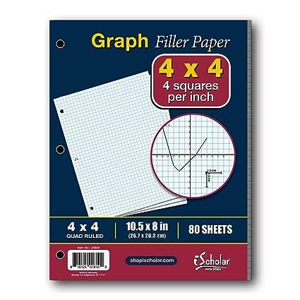 amazon com ischolar quad filler paper 4 squares per inch 10 5 x 8